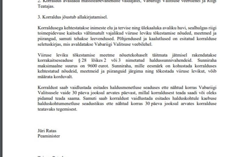 Alates 1. juunist taasavatakse Eesti piirid Euroopast saabujatele, valitsus leevendas ka ürituste korraldamise piiranguid