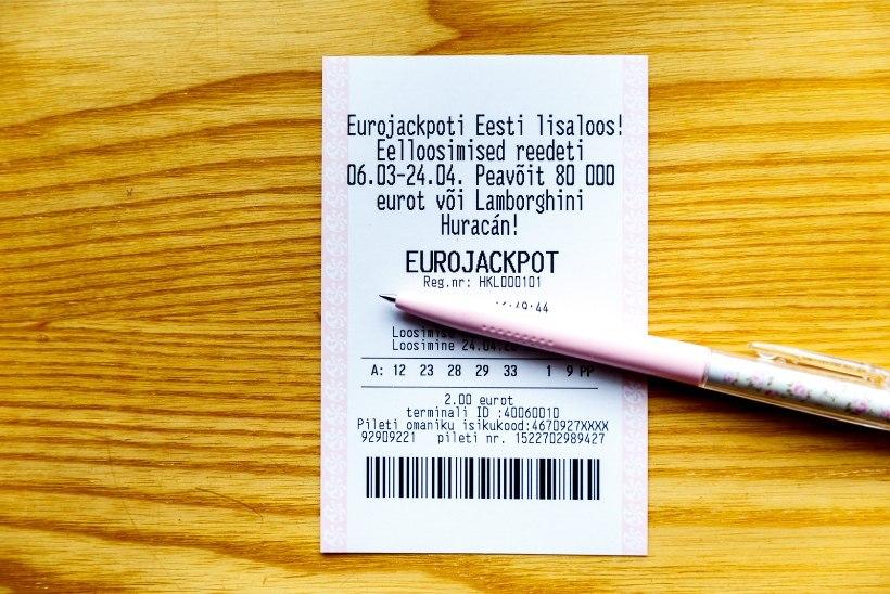 PALJU ÕNNE! Lotomängija võitis 185 000 eurot