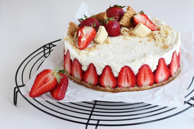 VAID VIIS KOOSTISOSA: uhke suvine maasika-kohupiimatort