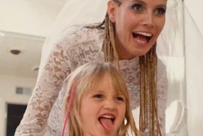 Heidi Klum jagas haruldast fotot oma esiktütrest