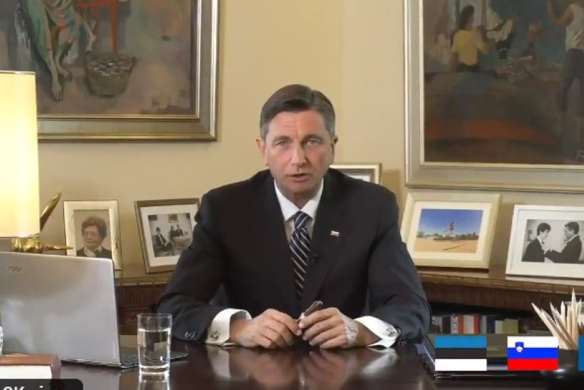 VIDEO | PUHTAS EESTI KEELES: Sloveenia president saatis meile südamliku videosõnumi