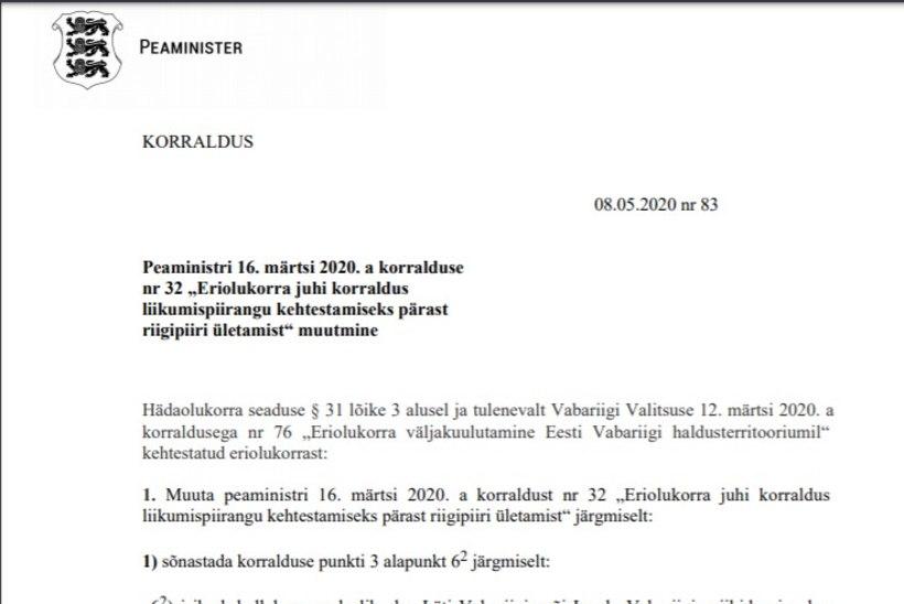 VALITSUSE KORRALDUS | Eesti leevendab piiranguid Läti, Leedu ja Soome piiriületusel