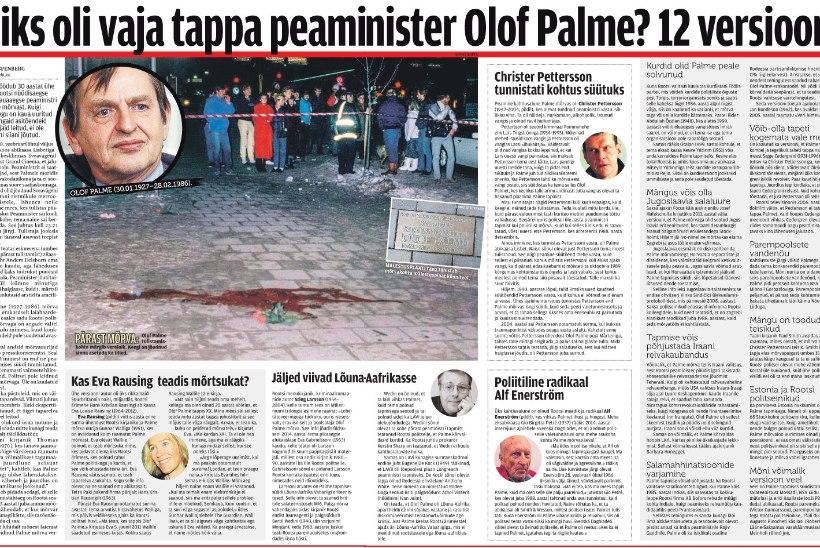 ÕL ARHIIV | Miks oli vaja tappa peaminister Olof Palme? 12 versiooni