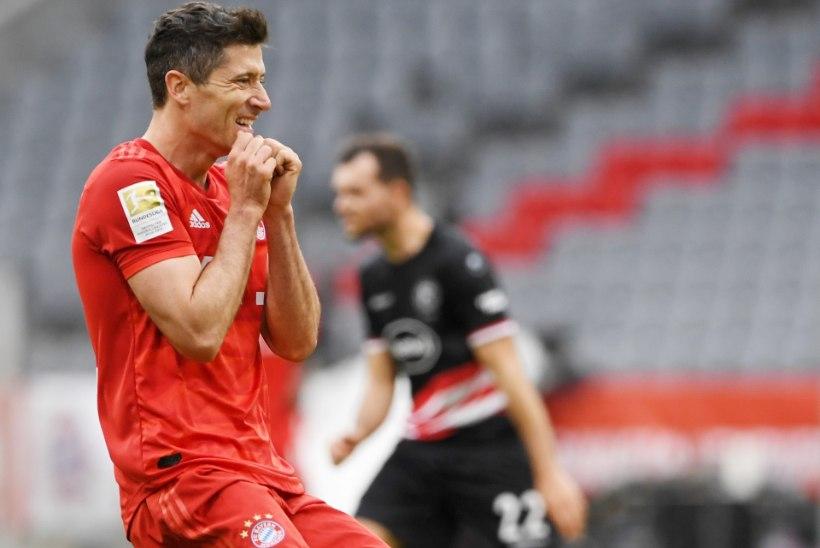 VIDEO   Pöörases hoos Lewandowski sai taas jala valgeks ja aitas Bayerni finaali