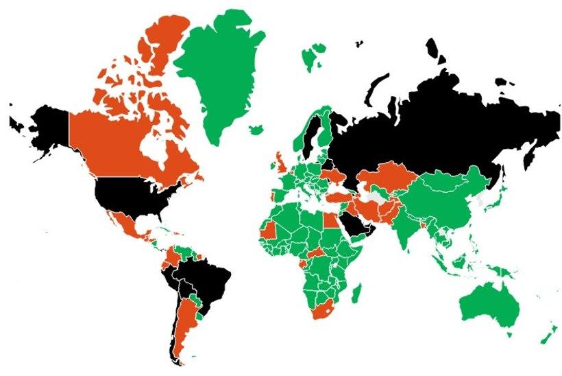 SUUR KOROONAKAART: milliste riikide matkasellid pääsevad liikumispiiranguteta Eestisse?