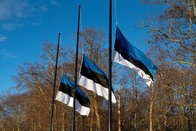 Pühapäeval heisatakse Eesti lipud leinalipuna