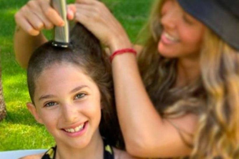 """ISEPÄINE: """"Sõprade"""" tähe 9aastane tütar lasi end kiilaks ajada!"""