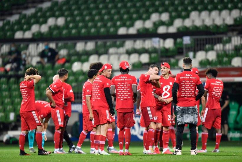Müncheni Bayern kindlustas ajaloolise Saksamaa meistritiitli
