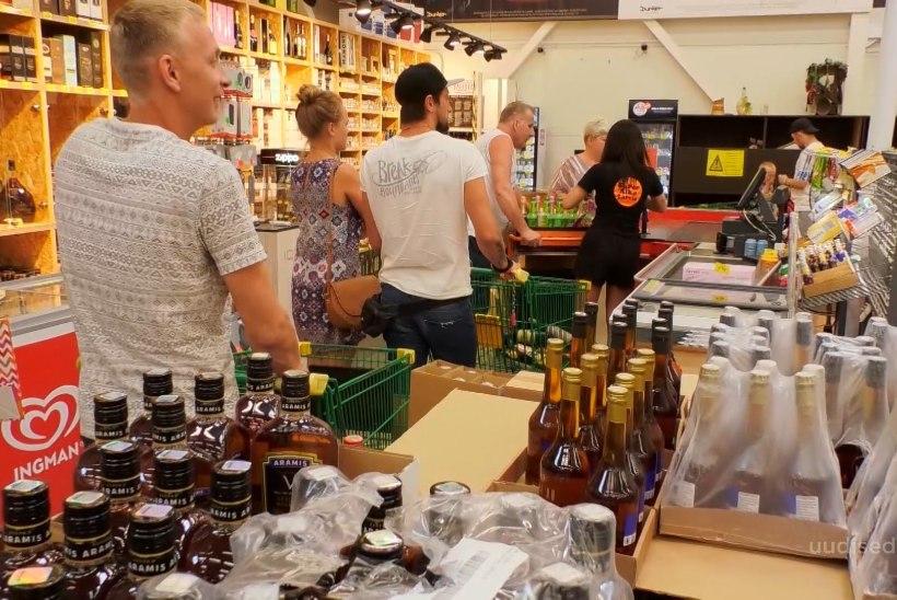TV3 VIDEO   Eestlaste nõudlus Läti odava alkoholi järele pole raugenud
