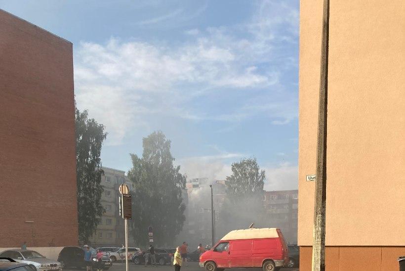 Tartus põles Annelinnas viienda korruse korter