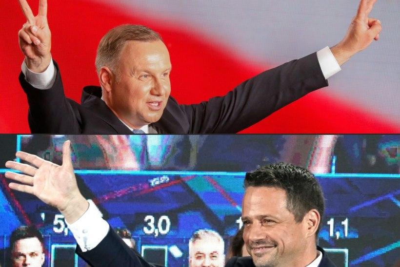 Poola presidendivalimised suunduvad teise vooru – praeguse riigijuhi vastaseks on Varssavi linnapea