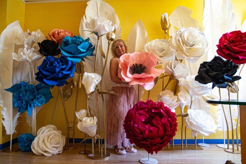 Riina Kikase käsitsi meisterdatud gigantlilled on saanud pidude hitiks