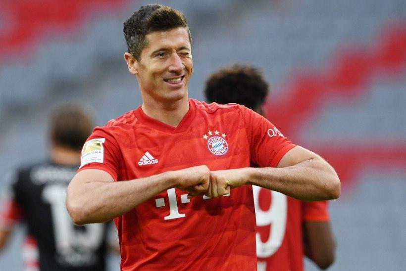 Bayern sai kindla võidu ja vajab tiitli kindlustamiseks viit punkti, Lewandowski jõudis vägeva tähiseni