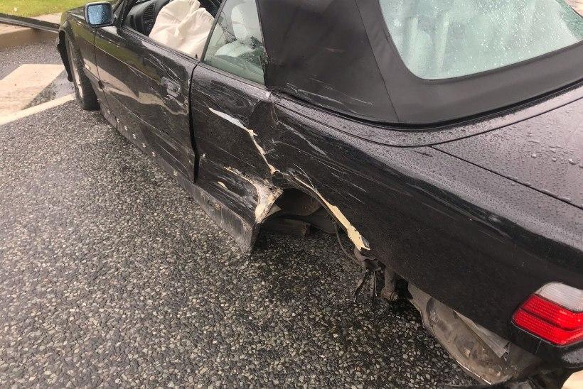 Pirita teel põrkasid kokku BMW ja kiirabiauto