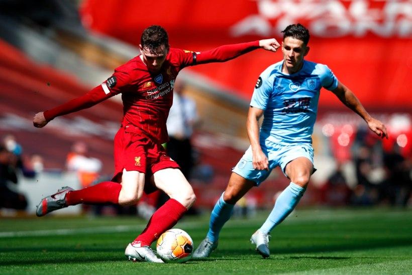 Liverpool kaotas Burnley vastu punkte, rekordi püstitamine läheb raskeks