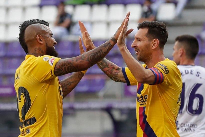 Barcelona sai napi võidu, Messi püstitas võimsa rekordi