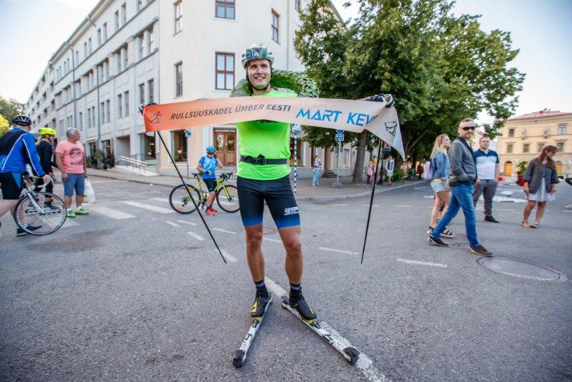 """Mart Kevin Põlluste rullsuusatas ümber Eesti: """"Kui raskeks läks, siis panin Smilersi """"Mojito"""" mängima, et tuju üleval hoida."""""""