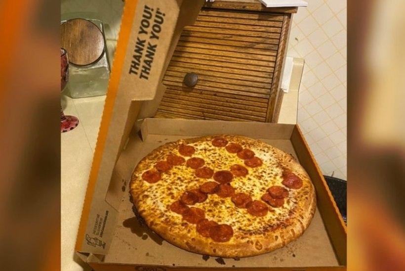 Ameerika pitsarestoran saatis kliendile haakristi-pitsa