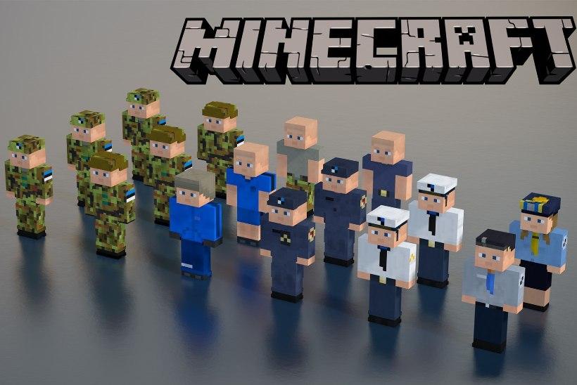 """Arvutimängus """"Minecraft"""" saad nüüd kanda Eesti kaitseväe vormi"""