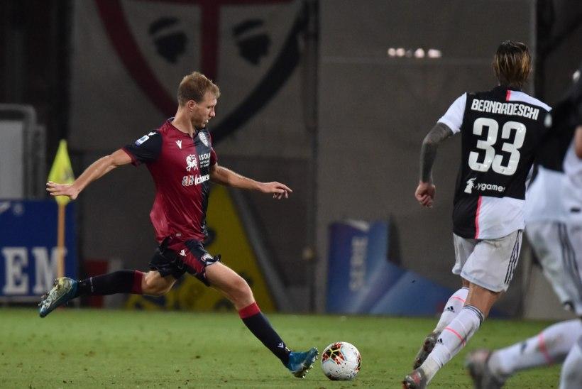 Klavan ja Cagliari alistasid Juventuse, Tunjov alustas algkoosseisus