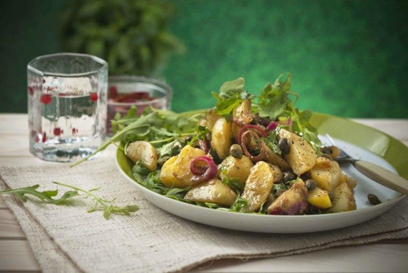 EHE SUVINE MAITSE   Värske kartuli salat marineeritud punasibulaga
