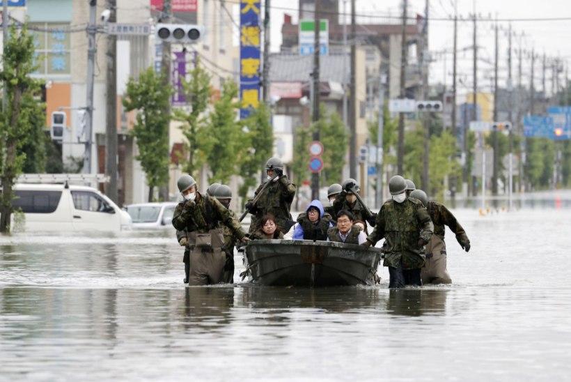 Jaapani üleujutuste tõttu on surnud ligi 60 inimest
