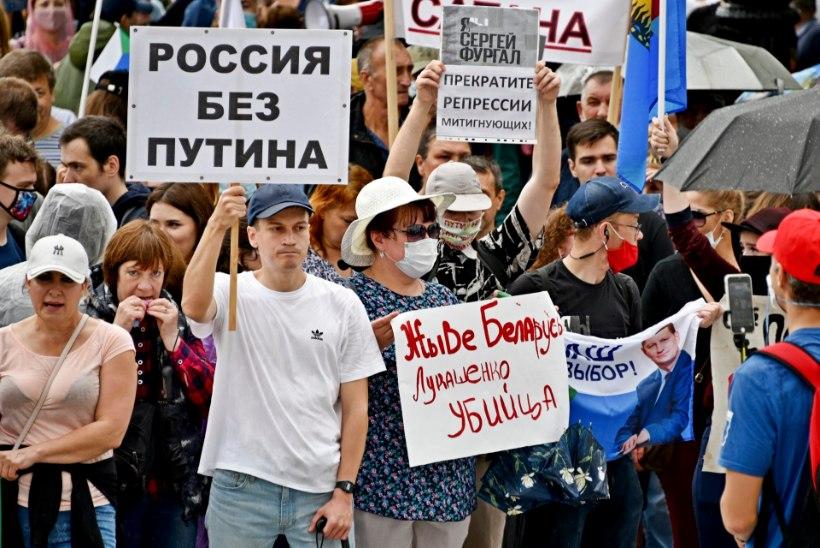 Vene opositsioon loodab Valgevene protestidest kasu lõigata