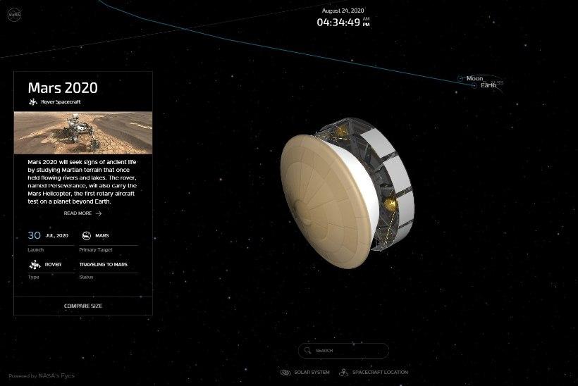 ARVUTIEKRAANILT AVAKOSMOSESSE: NASA programmiga saab hõlpsalt reisida kogu Päikesesüsteemis