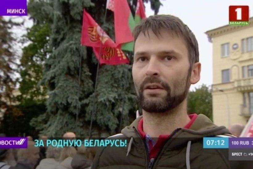"""PROPAGANDAMASIN TÖÖTAB! Teleintervjuus välisriikide sekkumist kritiseerinud """"Valgevene aktivist"""" oli hoopis Vene poliitik"""