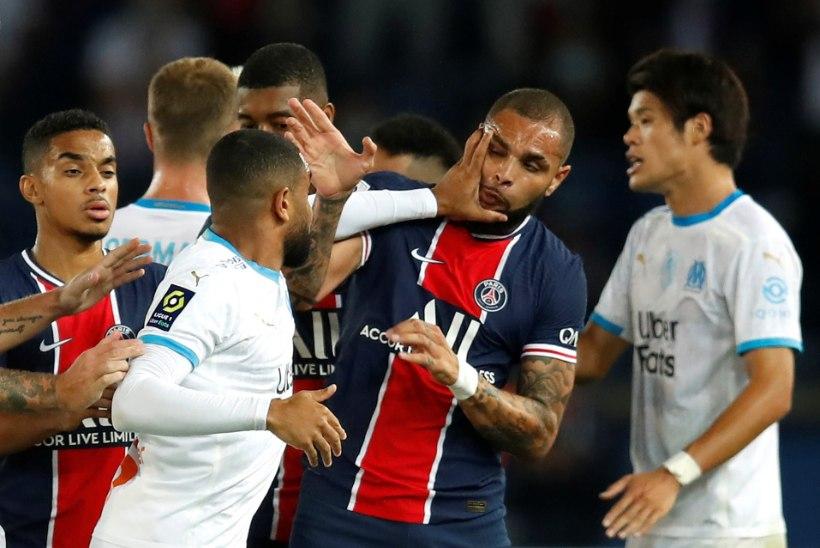 VIDEO | PSG ja Marseille mäng lõppes mäsu ja viie punase kaardiga