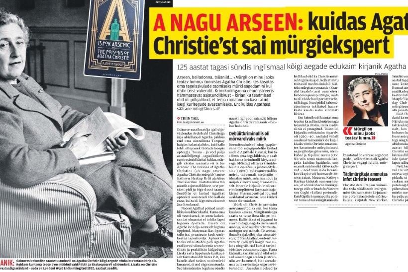 ÕL ARHIIV | A nagu arseen: kuidas Agatha Christie'st sai mürgiekspert