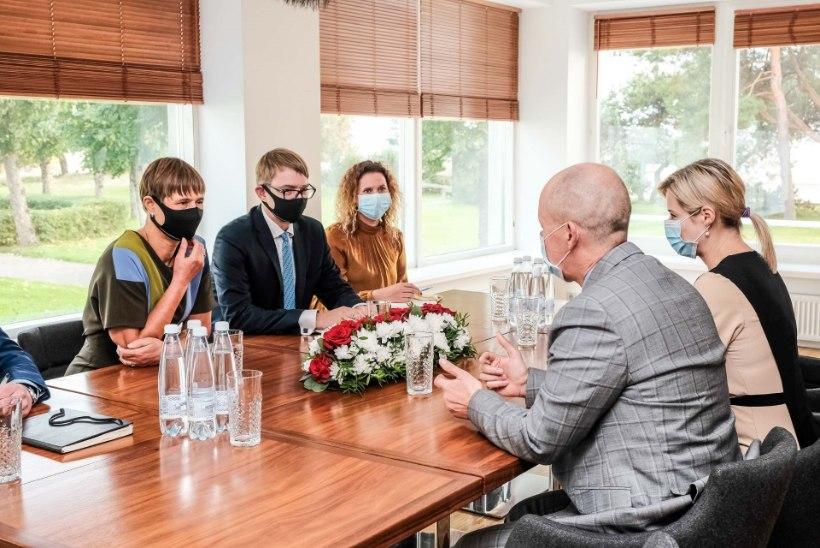 FOTOD | President Kaljulaid kohtus Valgevene opositsiooni esindajatega