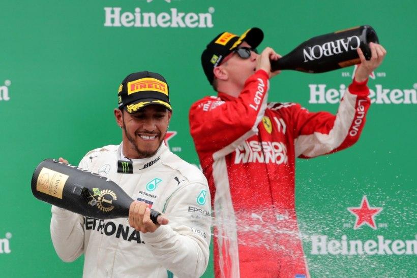 Räikkönen mõnitas Hamiltoni: vanasti oskasid vormel-1 piloodid elada ja panid pidu!