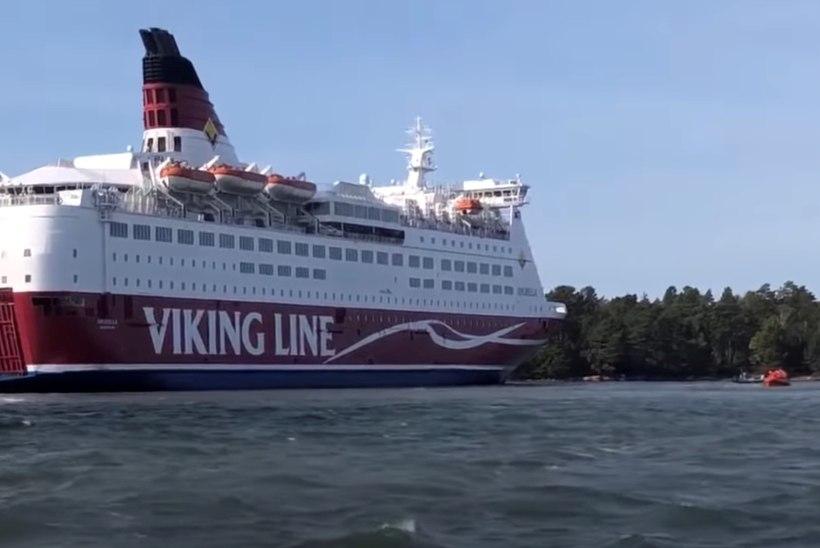Tuukrid käisid madalikule sõitnud Viking Line'i laeva Amorella kahjustusi uurimas