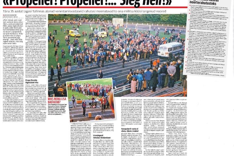 """ÕL ARHIIV   1980. AASTA SÜGISRAHUTUSED: """"Propeller! Propeller!…  Sieg Heil!"""""""