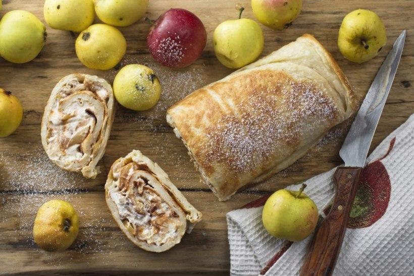 NÄDALA KOOK | Pannkoogirull karamelliste õunte ja vahukoorega