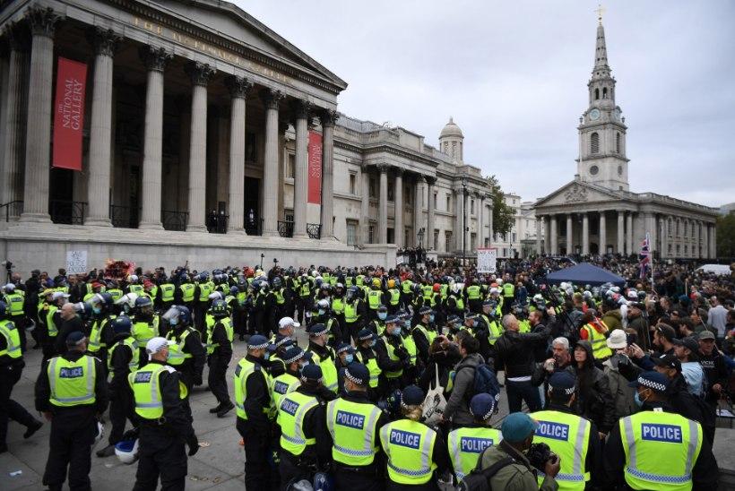 Londonis protestivad 15 000 inimest koroonapiirangute vastu