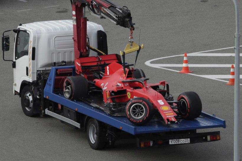 VIDEO   Sotši kvalifikatsiooni võitis Hamilton, Vettel lõpetas seinas