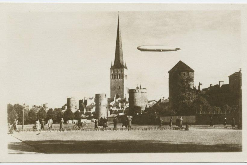 MAAILMA SUURIM ÕHULAEV TALLINNA KOHAL: Graf Zeppelin meelitas tänavatele kümned tuhanded inimesed, töö- ja koolielu seiskus täielikult