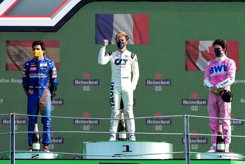 AASTA PÖÖRASEIM VORMEL 1 ETAPP: Pierre Gasly sepistas suurüllatuse, Mercedes, Red Bull ja Ferrari jäid poodiumilt välja