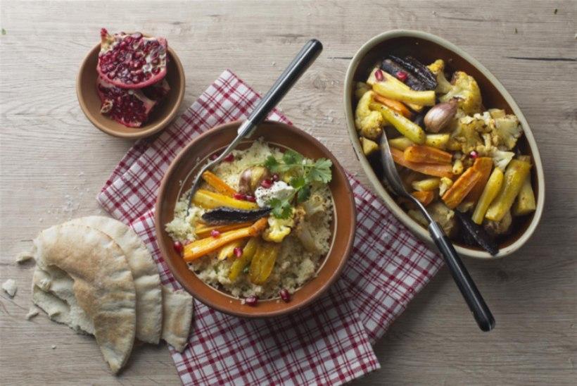 KERGE JA SÄRTSAKAS | Marokopärased röstitud köögiviljad kuskussiga