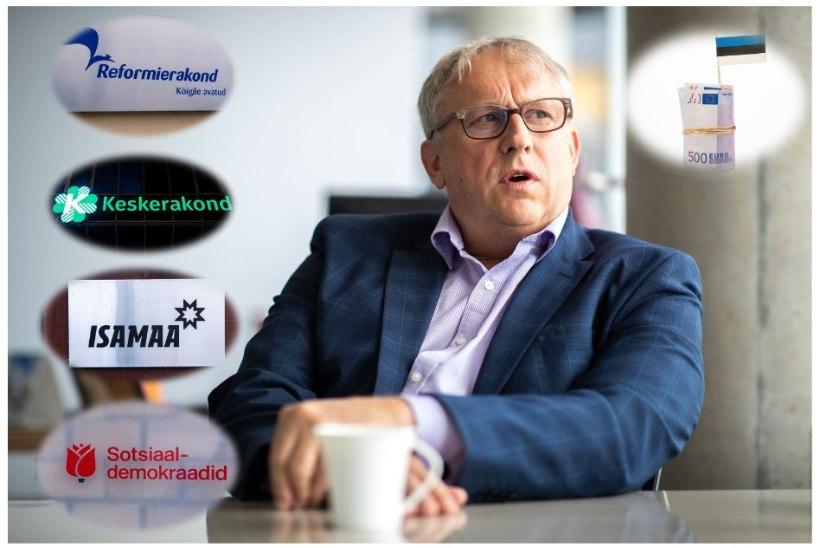 KORRUPTSIOONISKANDAALI JÄLGEDES: kas erakonnad maksavad tagasi Hillar Tederilt saadud üle miljoni euro