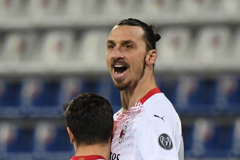 Ibrahimovic lõi Klavani koduklubi vastu kaks väravat, Milan tõusis liidriks