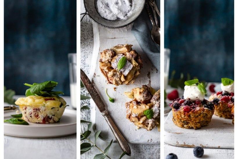 LEMMIKU LEIAB IGAÜKS   Kaerahelbemuffinid marjadega, saiavormimuffinid ja soolased omletimuffinid