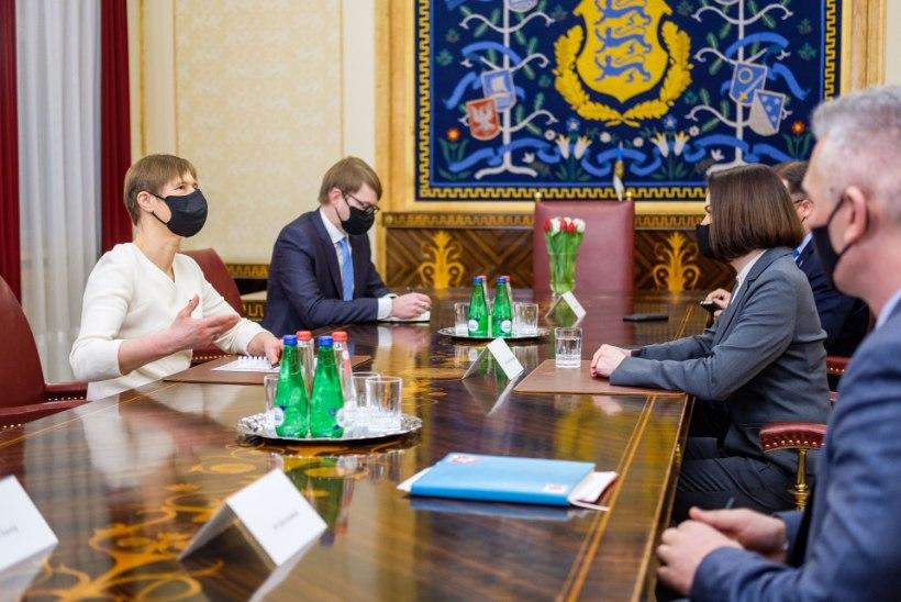 FOTOD | PresidentKaljulaidkohtus Valgevene opositsiooniliidri Svjatlana Tsihhanovskajaga