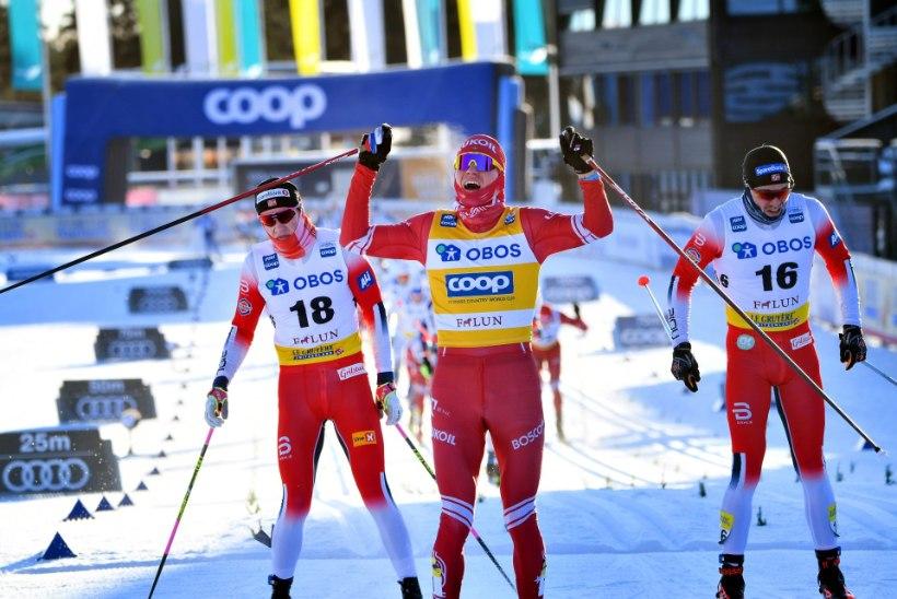 Faluni MK-etapp: võidud Bolšunovile ja Svahnile, eestlased tagumiste seas