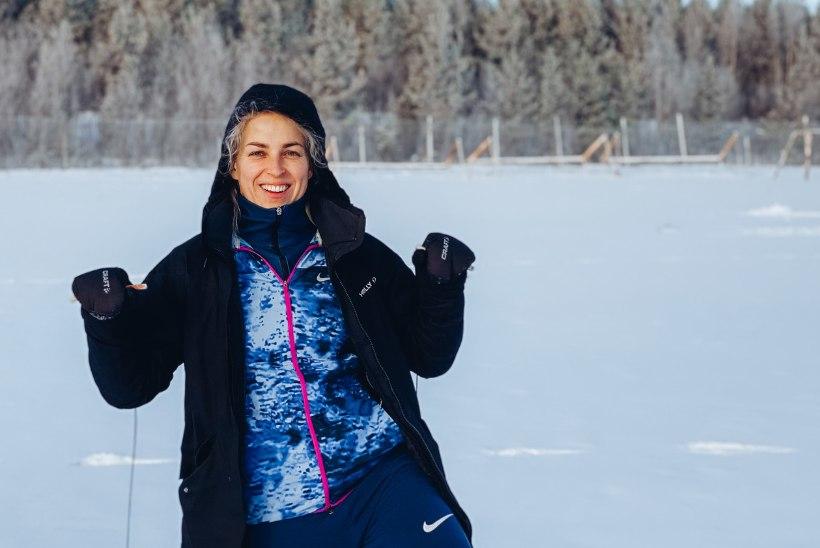 Eesti parim naiskergejõustiklane heidab Soomes vasarat isegi käredas pakases
