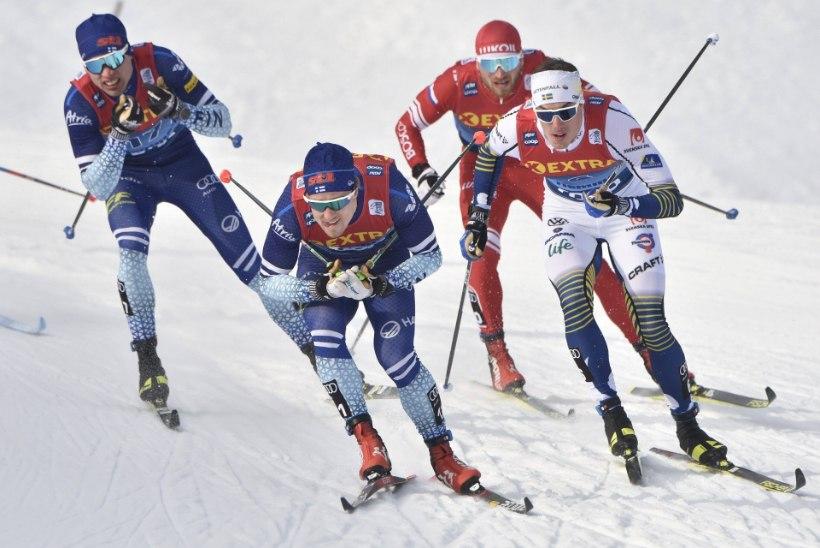Soome suusataja ei jõua ära imestada: sportlased peavad Faluni MK-etapil iseseisvalt pulga ninna toppima
