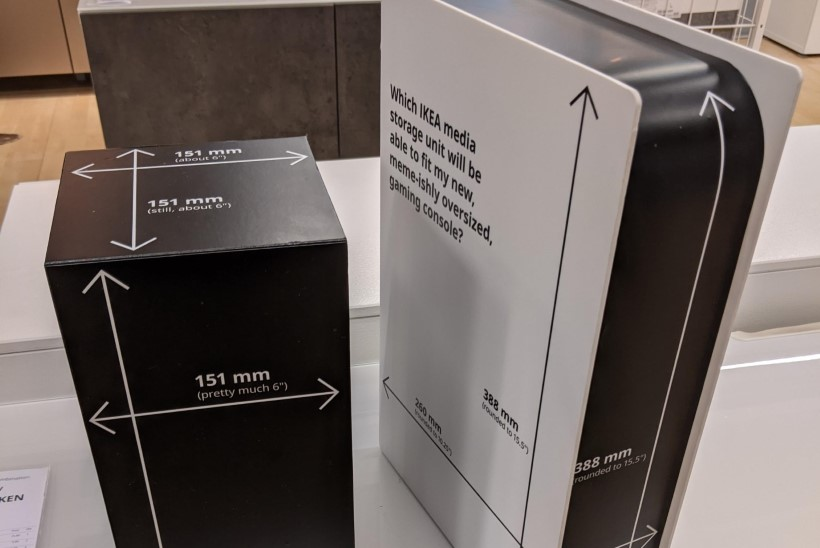 HIIGLASLIK MURE: kas Ikea kapid mahutavad uue põlvkonna mängukonsoole?