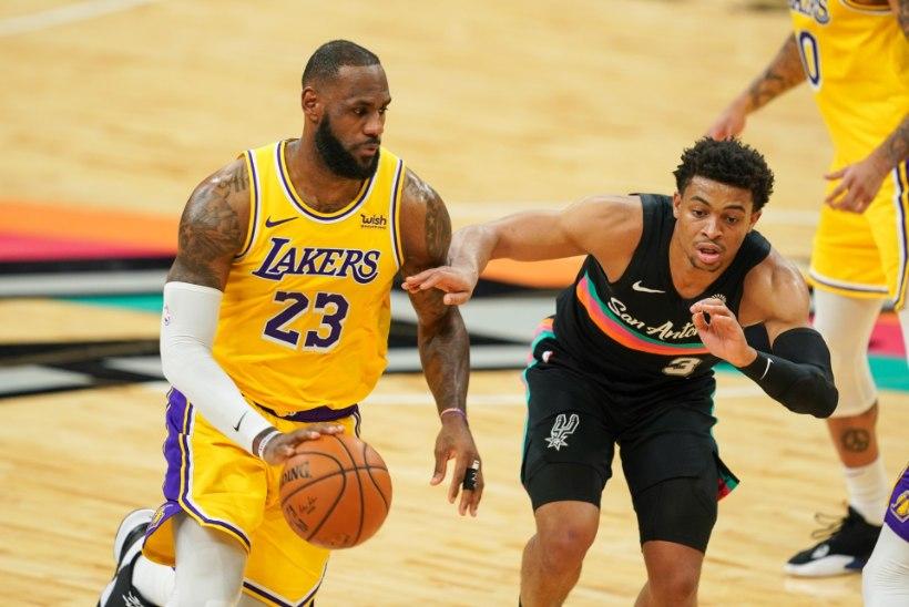 VIDEO   Lakers sai raske võidu, Brooklyn alistas Utah' kindlalt